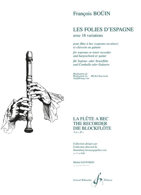 Les Folies d' Espagne - Francois Boüin - Partition - laflutedepan.com