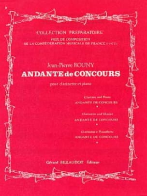 Andante de concours - Jean-Pierre Bouny - Partition - laflutedepan.com