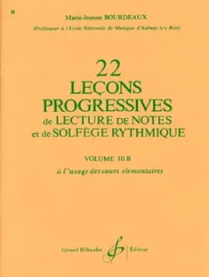 BOURDEAUX - 22 Progressive Lessons Volume 3B - Partition - di-arezzo.co.uk