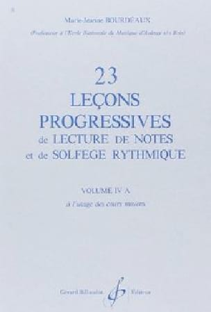 BOURDEAUX - 23 Progressive Lessons Volume 4A - Partition - di-arezzo.co.uk