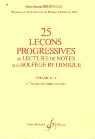 BOURDEAUX - 25 Progressive Lessons Volume 4B - Partition - di-arezzo.co.uk