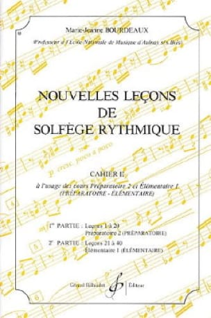 BOURDEAUX - New lessons in rhythmic solfeggio Volume 2 - Partition - di-arezzo.co.uk