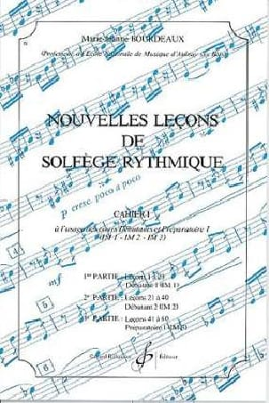 BOURDEAUX - New lessons in rhythmic solfeggio Volume 1 - Partition - di-arezzo.com