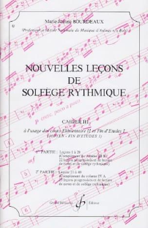 BOURDEAUX - Nouvelles lecons de solfège rythmique Volume 3 - Partition - di-arezzo.fr