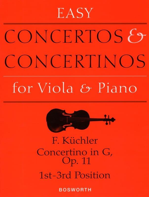 Ferdinand Küchler - Concertino in Sol Opus 11 - Alto - Partition - di-arezzo.com
