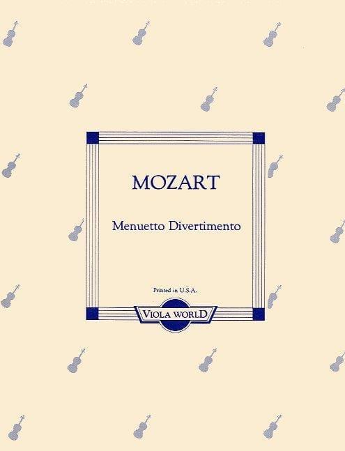 Menuetto Divertimento - Alto - MOZART - Partition - laflutedepan.com