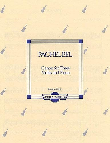 Johann Pachelbel - Canon para 3 Violas y piano - Partition - di-arezzo.es
