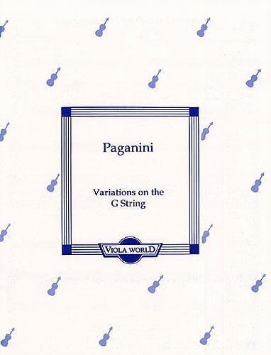 Variations On The G-String - Viola - PAGANINI - laflutedepan.com
