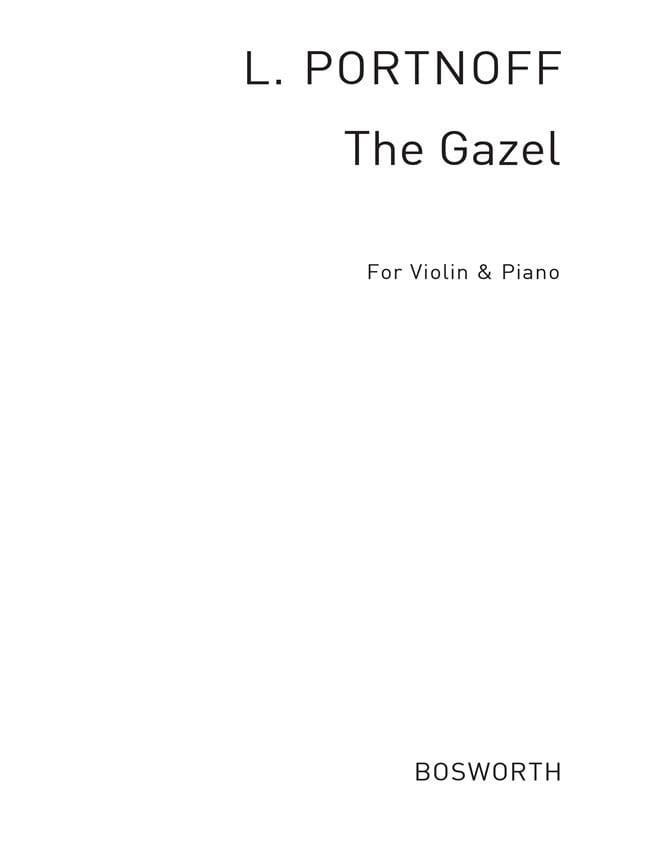 Leo Portnoff - Die Gazelle / The Gazel - Partition - di-arezzo.fr