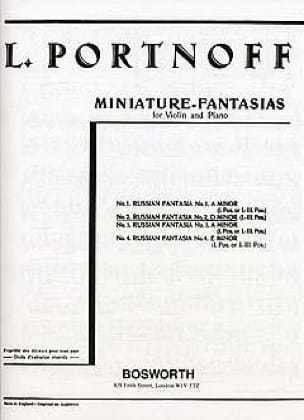 Leo Portnoff - Russian Fantasy N ° 2 in D Minor - Partition - di-arezzo.com