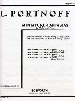 Leo Portnoff - Russische Fantasie Nr. 3 in Minor - Partition - di-arezzo.de