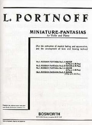 Leo Portnoff - Fantasy russo N ° 4 in Mi minore - Partition - di-arezzo.it