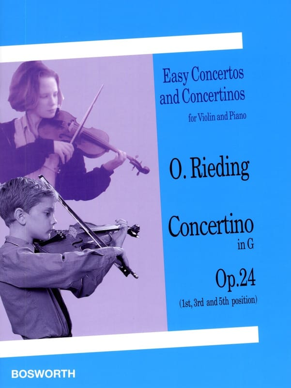 Oskar Rieding - Concertino op. 24 in G Major - Partition - di-arezzo.co.uk