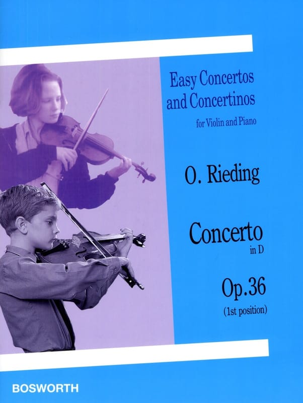 Oskar Rieding - Concerto op. 36 in D - Violin - Partition - di-arezzo.co.uk