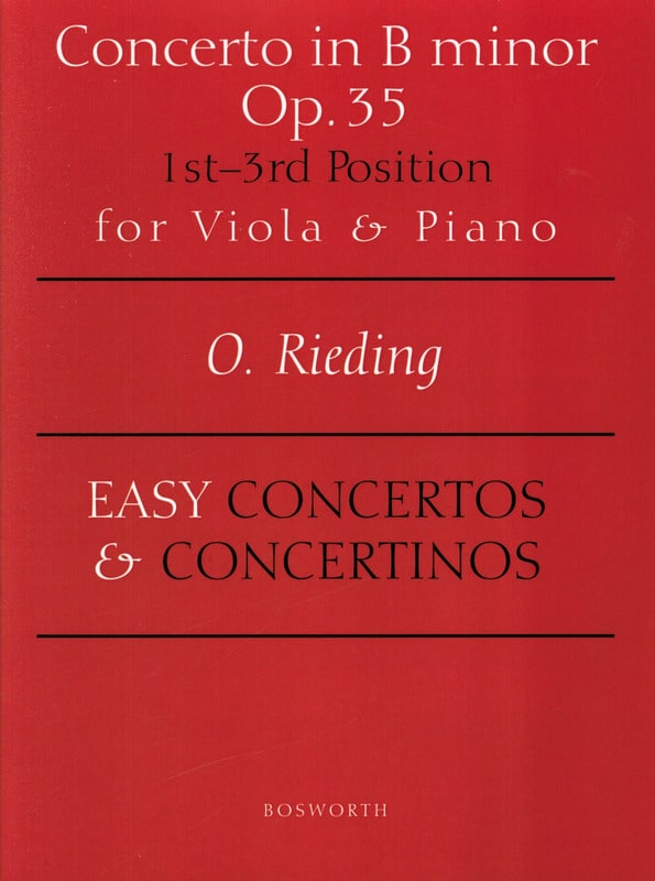 Oskar Rieding - Concerto op. 35 in B minor - Alto - Partition - di-arezzo.com