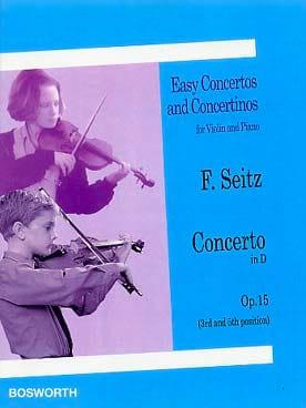 Friedrich Seitz - Concerto en Ré Opus 15 - Partition - di-arezzo.fr