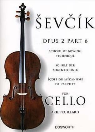 Otakar Sevcik - Studies Opus 2 / Part 6 - Cello - Partition - di-arezzo.co.uk