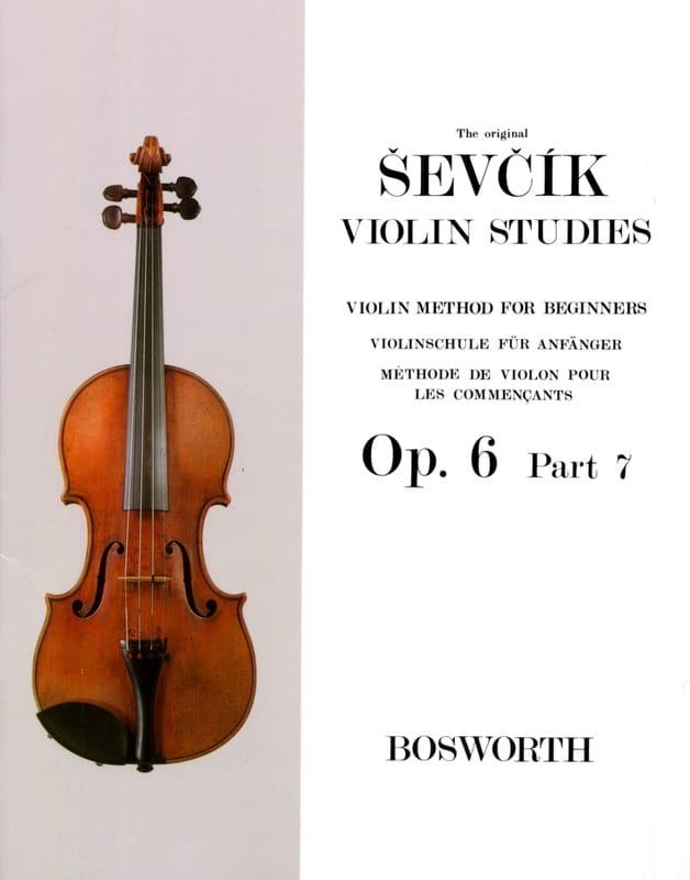 Etudes Opus 6 / Partie 7 - Violon - Otakar Sevcik - laflutedepan.com