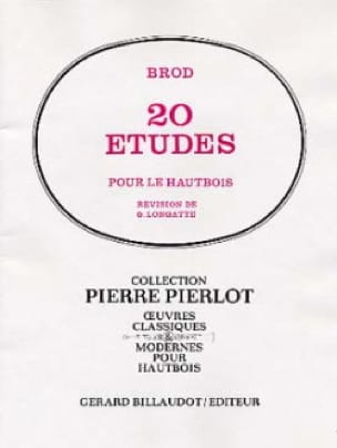 Henri Brod - 20 Studies - Oboe - Partition - di-arezzo.co.uk