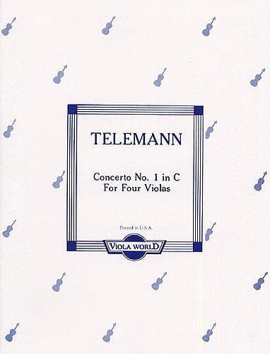 TELEMANN - Concerto No. 1 in C - 4 Violas - Partition - di-arezzo.co.uk