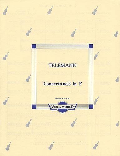 TELEMANN - Concerto No. 3 In F - 4 Altos - Partition - di-arezzo.co.uk