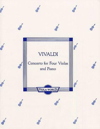 VIVALDI - Concerto for 4 Violas and piano - Partition - di-arezzo.com