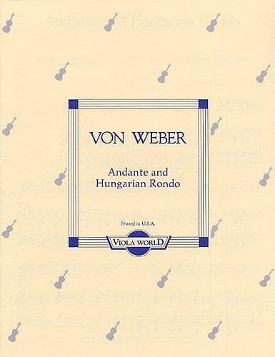 Carl Maria von Weber - Andante and Hungarian rondo - Viola - Partition - di-arezzo.com