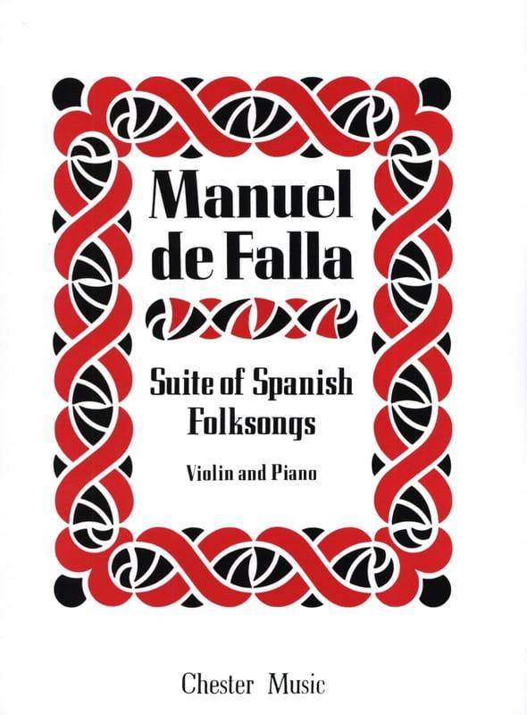 DE FALLA - Suite of Spanish Folksongs - Partition - di-arezzo.co.uk