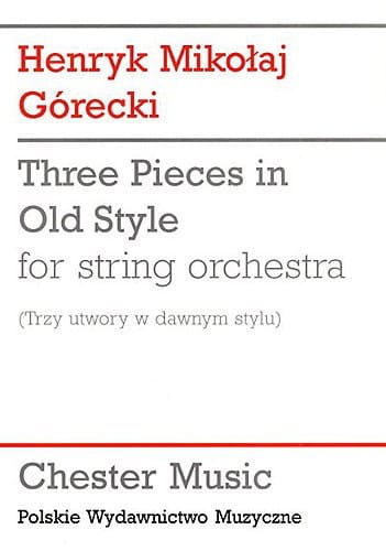 3 Pieces in old style - Score - GORECKI - Partition - laflutedepan.com