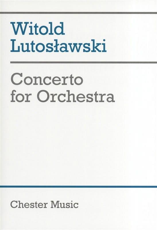Concerto for orchestra - Score - LUTOSLAWSKI - laflutedepan.com