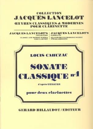 Sonate classique n° 1 - Louis Cahuzac - Partition - laflutedepan.com