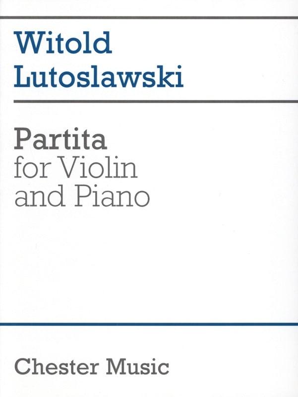Witold Lutoslawski - Partita - Partition - di-arezzo.co.uk