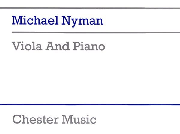 Viola and Piano - Michael Nyman - Partition - Alto - laflutedepan.com