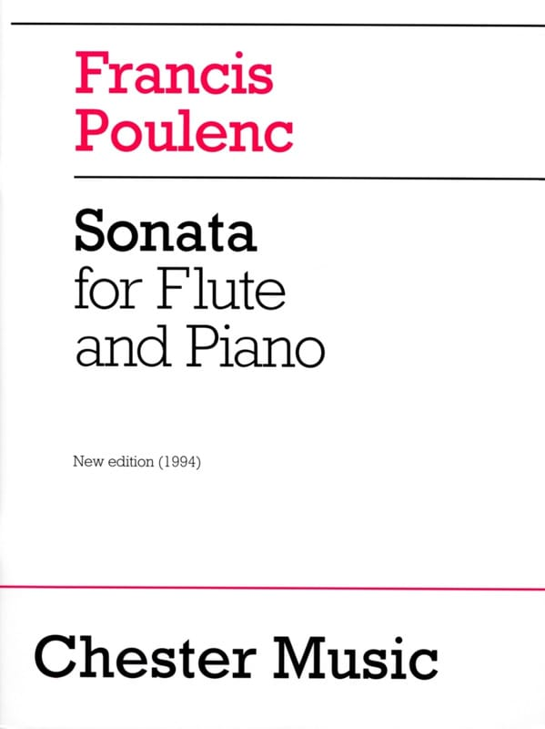 Francis Poulenc - Sonata - Partition - di-arezzo.co.uk