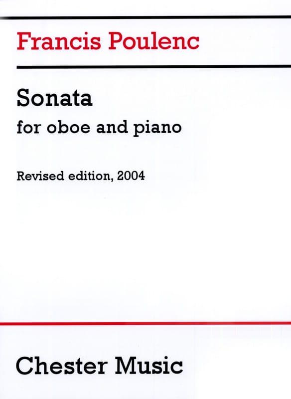 Francis Poulenc - Sonate - Oboe and piano - Partition - di-arezzo.com