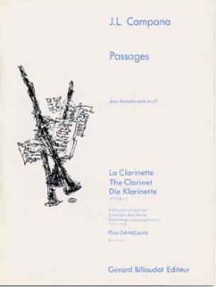 Passages - Jose-Luis Campana - Partition - laflutedepan.com