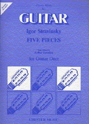 5 Pieces -Guitar Duet - Igor Stravinsky - laflutedepan.com