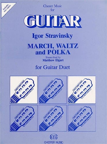 Marsch, Waltz and Polka - Guitar Duet - STRAVINSKY - laflutedepan.com