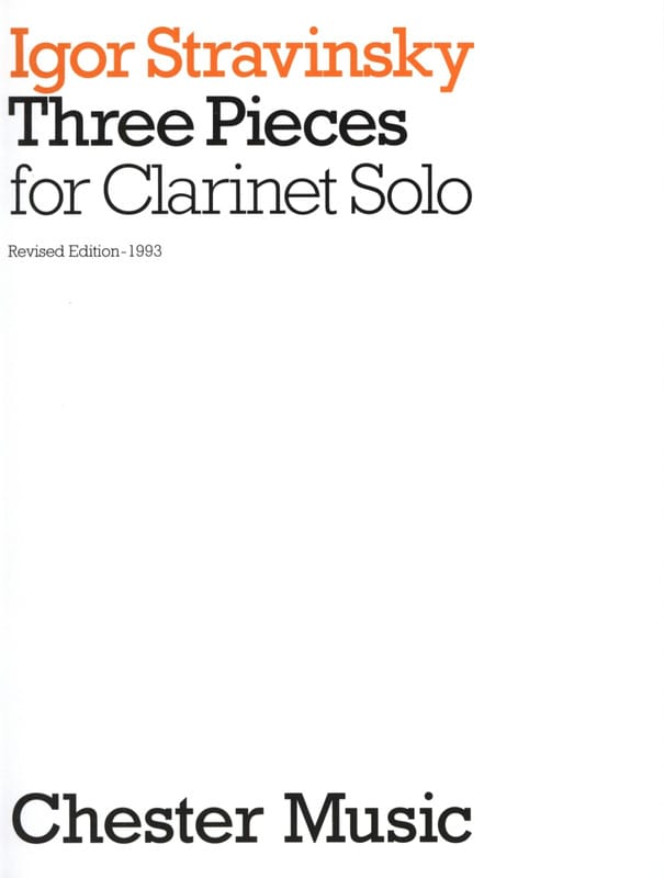 3 Pieces for clarinet solo - STRAVINSKY - Partition - laflutedepan.com