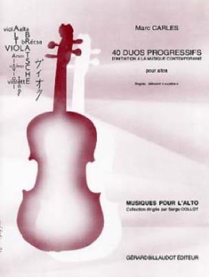 40 Duos progressifs - Marc Carles - Partition - laflutedepan.com