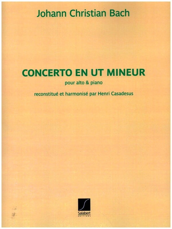 Johann Christian Bach - Concerto in C minor - Partition - di-arezzo.co.uk