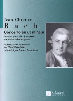 Johann Christian Bach - Concerto in C minor - Partition - di-arezzo.co.uk
