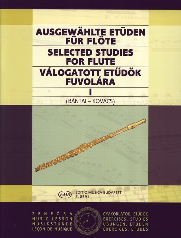 Bantai Vilmos / Kovacs Gabor - Selected Studies for Flute Volume 1 - Partition - di-arezzo.co.uk