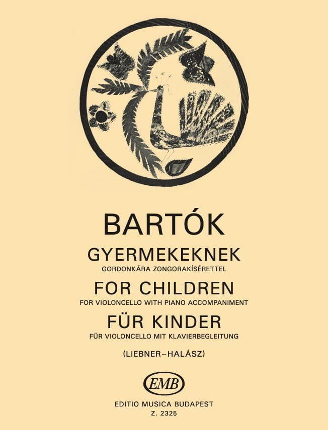 Für Kinder - BARTOK - Partition - Violoncelle - laflutedepan.com