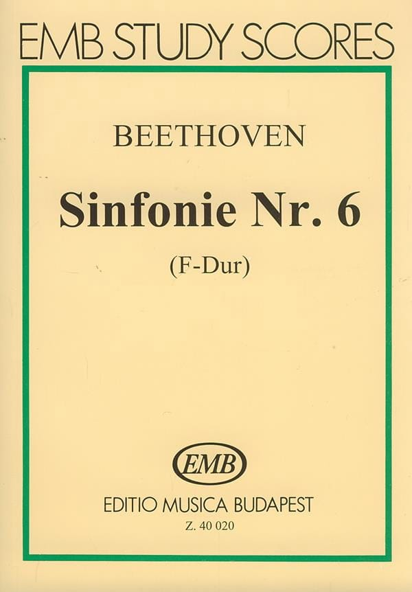 BEETHOVEN - Symphony No. 6 - Partitur - Partition - di-arezzo.co.uk