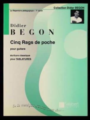 5 Rags de poche - Didier Begon - Partition - laflutedepan.com