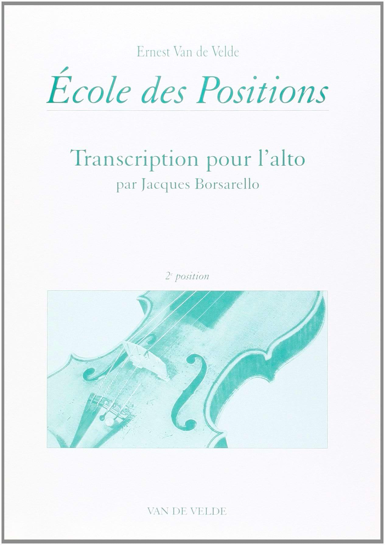 Ecole des positions - 2ème position - Alto - laflutedepan.com