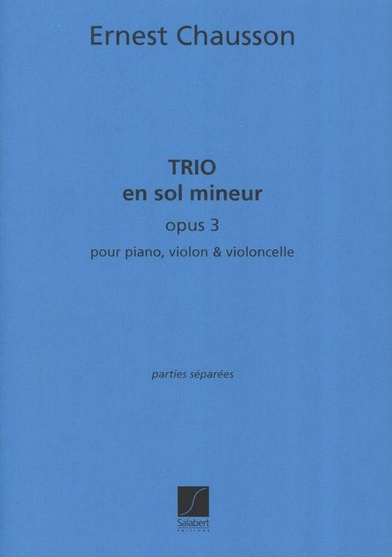 Trio en sol mineur op. 3 - CHAUSSON - Partition - laflutedepan.com