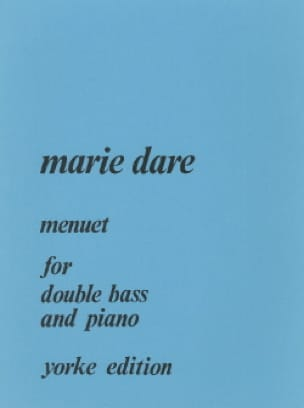 Menuet for double bass and piano - Marie Dare - laflutedepan.com