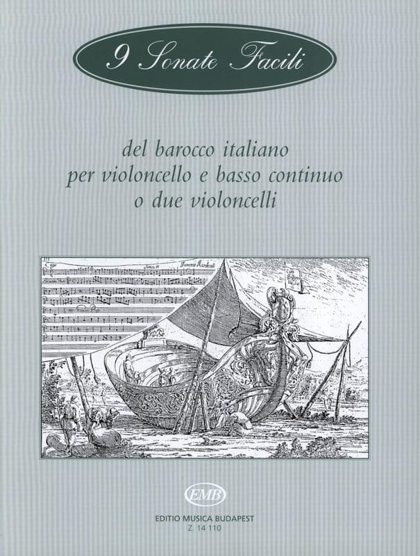 Arpad Pejtsik - 9 Sonata easy barocco italiano - Cello - Partition - di-arezzo.com